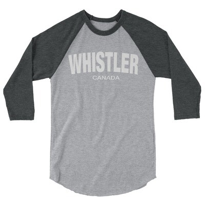 Whistler British Columbia Canada - 3/4 sleeve raglan shirt (Multi Colors) The Rockies Canadian Rocky Mountains