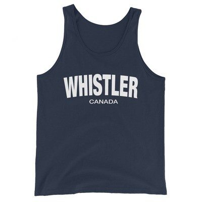 Whistler British Columbia Canada - Tank Top (Multi Colors) The Rockies Canadian Rocky Mountains