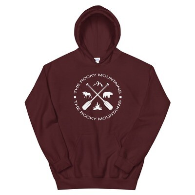 The Rocky Mountains - Hooded Sweatshirt (Multi Colors) The Rockies American Canadian Rocky Mountains