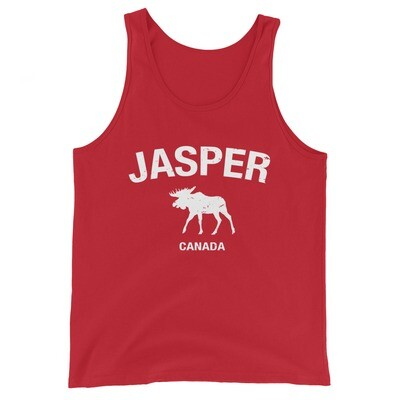 Jasper Moose Alberta Canada - Tank Top (Multi Colors) The Rockies Canadian Rocky Mountains