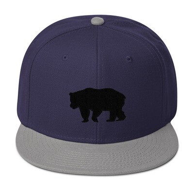 Black Bear - Snapback Hat (Multi Colors) The Rocky Mountains Canadian American Rockies