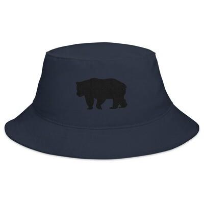 Black Bear - Bucket Hat (Navy) The Rocky Mountains, Canadian American Rockies