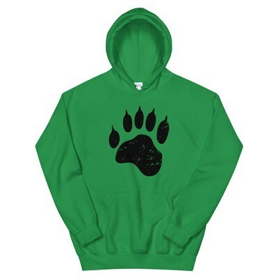 Bear Paw - Hooded Sweatshirt (Multi Colors) The Rocky Mountains, Canadian American Rockies