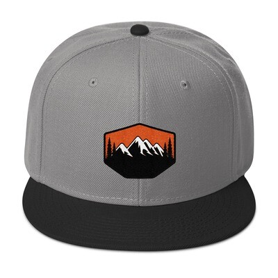 Sunset Mountains & Pines - Snapback Hat (Multi Colors) The Rocky Mountains Canadian American Rockies