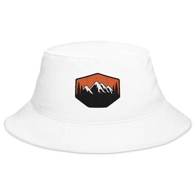 Sunset Mountains & Pines - Bucket Hat (Multi Colors) The Rocky Mountains Canadian American Rockies