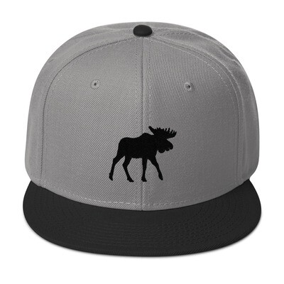 Black Moose - Snapback Hat (Multi Colors) The Rocky Mountains Canadian American Rockies