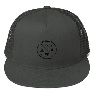 The Rockies - Mesh Back Snapback - The Rocky Mountains Canadian American Rockies