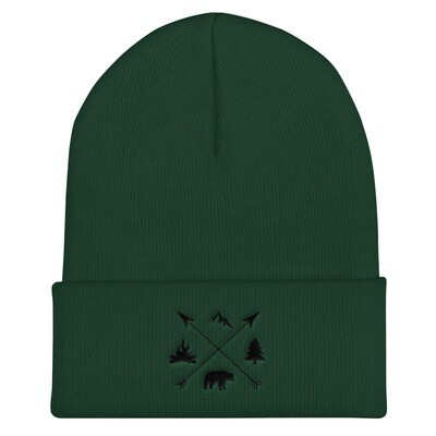 The Rockies Lifestyle - Cuffed Beanie (Multi Colors) Canadian American Rocky Mountains
