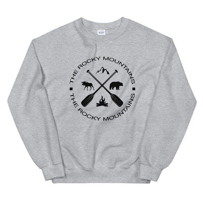 The Rocky Mountains - Sweatshirt (Multi Colors) The Rockies Canadian American Rocky Mountains