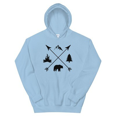 The Rockies Lifestyle - Hoodie (Multi Colors) The Rocky Mountains Canadian American Rocky Mountains