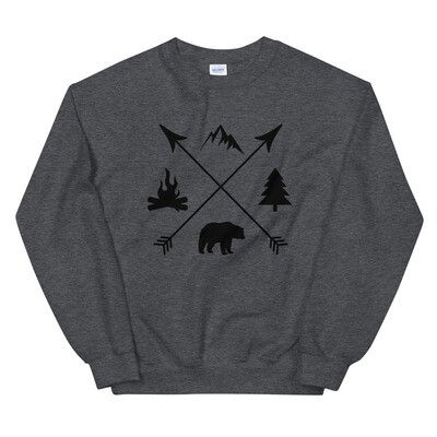 The Rockies Lifestyle - Sweatshirt (Multi Colors) Canadian American Rocky Mountains