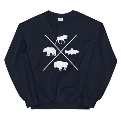 The Rockies Wildlife - Sweatshirt (Multi Colors) The Rocky Mountains Canadian American Rockies