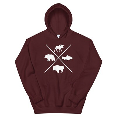 The Rockies Wildlife - Hoodie (Multi Colors) Canadian American Rocky Mountains