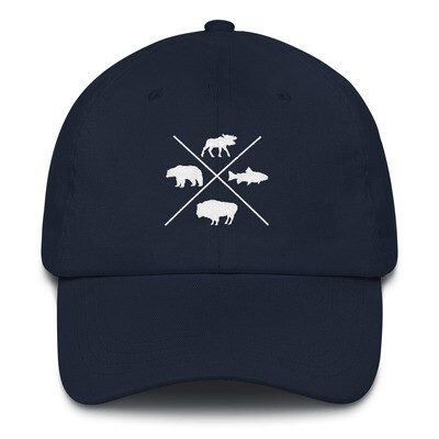 The Rockies Wildlife - Baseball / Dad hat (Multi Colors) Canadian American Rocky Mountains