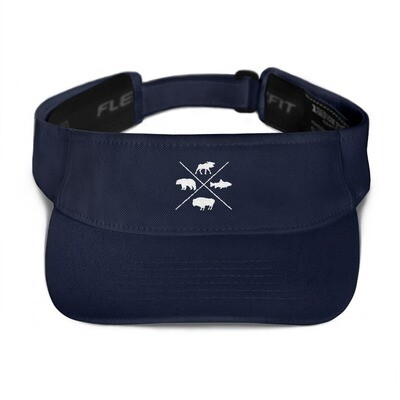The Rockies Wildlife - Visor (Multi Colors) Canadian American Rocky Mountains