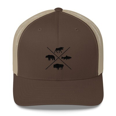 The Rockies Wildlife - Trucker Cap (Multi Colors) Canadian American Rocky Mountains