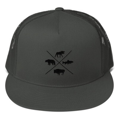 The Rockies Wildlife - Mesh Back Snapback - Canadian American Rocky Mountains