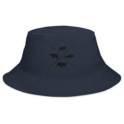 The Rockies Wildlife - Bucket Hat (Multi Colors) Canadian American Rocky Mountains