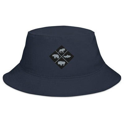 The Rockies Wildlife Crest - Bucket Hat (Multi Colors) Canadian American Rocky Mountains