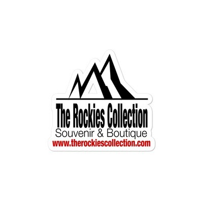 """""""FREE"""" The Rockies Collection Logo - Vinyl Bubble-free stickers (Multi Sizes) The Rocky Mountains Canadian American Rockies"""