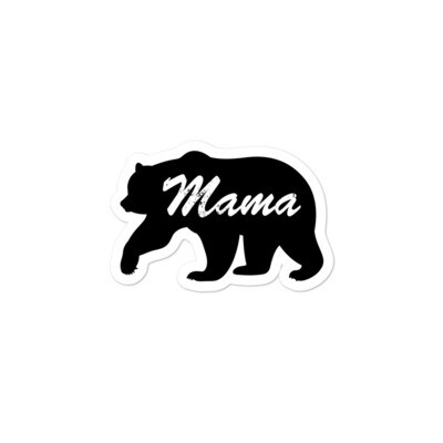 Mama Bear -  Vinyl Bubble-free stickers (Multi Sizes) The Rocky Mountains Canadian American Rockies