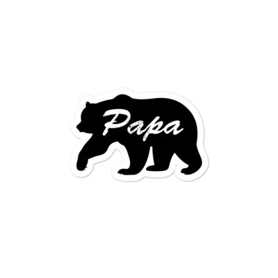 Papa Bear - Vinyl Bubble-free stickers (Multi Sizes) The Rocky Mountains Canadian American Rockies