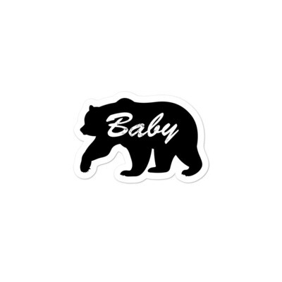 Baby Bear - Vinyl Bubble-free stickers ( Multi Sizes) The Rocky Mountains Canadian American Rockies