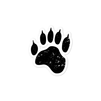Bear Paw - Vinyl Bubble-free stickers (Multi Sizes) The Rocky Mountains Canadian American Rockies