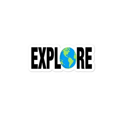 Explore - Vinyl Bubble-free stickers (Multi Sizes) - The Rocky Mountains Canadian American Rockies