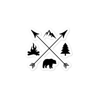 The Rockies Lifestyle - Vinyl Bubble-free stickers (Multi Sizes) Canadian American Rocky Mountains