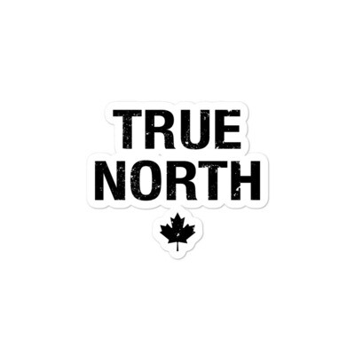 True North - Vinyl Bubble-free stickers (Multi Sizes) The Rocky Mountains Canadian American Rockies