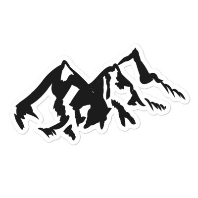 Mountain Range - Vinyl Bubble-free stickers (Multi Sizes) The Rocky Mountains Canadian American Rockies
