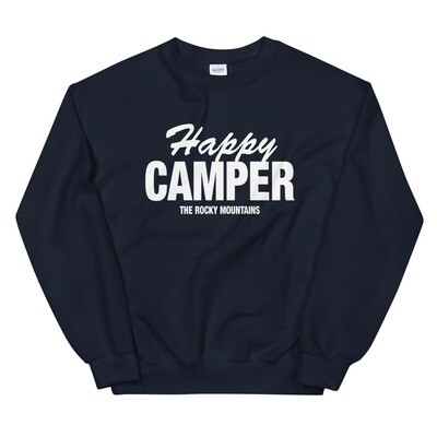 Happy Camper - Sweatshirt (Multi Colors) The Rocky Mountains Canadian American Rockies