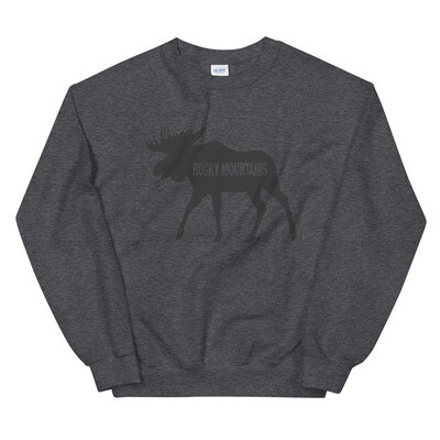 Rocky Mountain Moose - Sweatshirt (Multi Colors) Canadian American Rockies