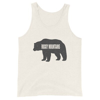 Rocky Mountain Bear - Tank Top (Multi Colors) The Canadian American Rockies