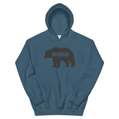 Rocky Mountain Bear - Hoodie (Multi Colors) The Rockies Canadian American Rocky Mountains