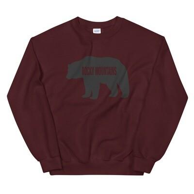 Rocky Mountain Bear - Sweatshirt (Multi Colors) The Rockies Canadian American Rocky Mountains