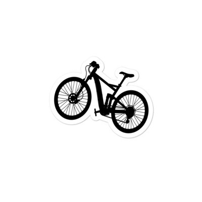 Mountain Bike - Vinyl Bubble-free stickers (Multi Sizes)  The Rockies Canadian American Rocky Mountains