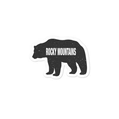 Bear - Vinyl Bubble-free stickers (Multi Sizes) The Rockies American Canadian Rocky Mountains
