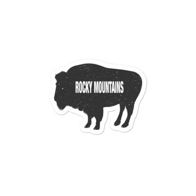 Bison - Vinyl Bubble-free stickers (Multi Sizes) The Rocky Mountains Canadian American Rockies