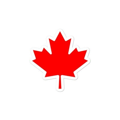 Canada Maple Leaf - Vinyl Bubble-free stickers (Multi Sizes) The Rockies Canadian American Rocky Mountains