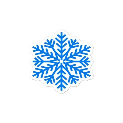 Snowflakes - Vinyl Bubble-free stickers (Multi Sizes) The Rockies American Canadian Rocky Mountains