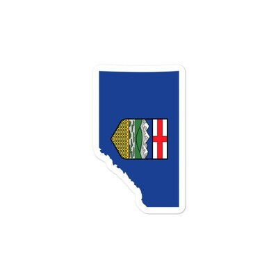 Alberta Flag Map - Vinyl Bubble-free stickers (Multi Sizes) The Rockies Canadian Rocky Mountains