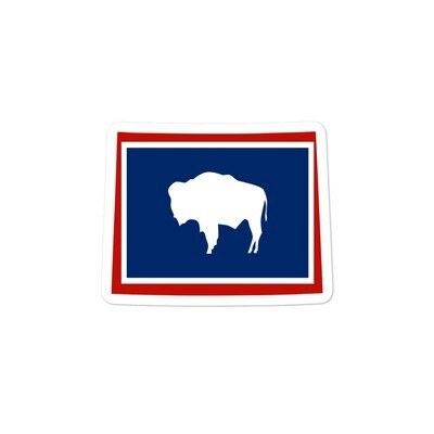 Wyoming Flag Map - Vinyl Bubble-free stickers (Multi Sizes) The Rockies American Rocky Mountains