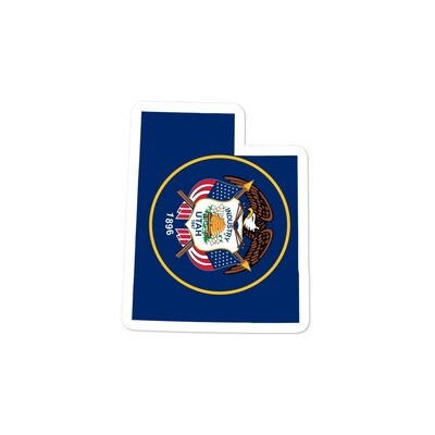 Utah Flag Map - Vinyl Bubble-free stickers (Multi Sizes) The Rockies American Rocky Mountains