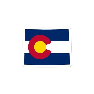 Colorado Flag Map - Vinyl Bubble-free stickers (Multi Sizes) The Rockies American Rocky Mountains