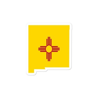 New Mexico Flag Map - Vinyl Bubble-free stickers (Multi Sizes) The Rockies American Rocky Mountains