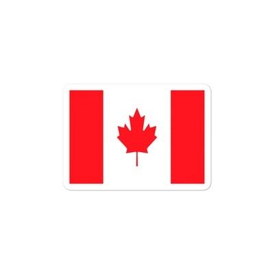 Canadian Flag - Vinyl Bubble-free stickers (Multi Sizes)