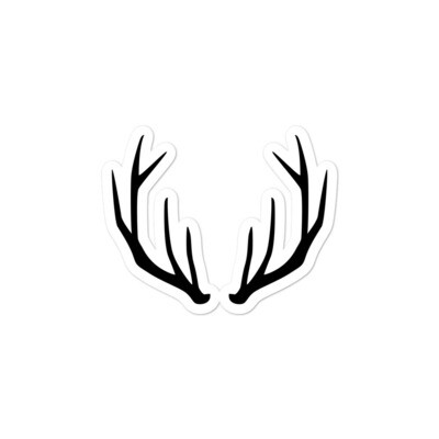 Antlers - Vinyl Bubble-free stickers (Multi Sizes) The Rocky Mountains Canadian American Rockies