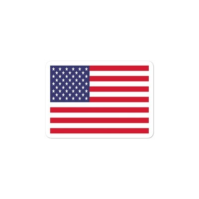 US Flag - Vinyl Bubble-free stickers (Multi Sizes)